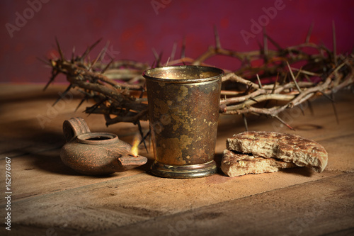 Table With Communion Elements