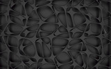 Abstract black geometrical background. 3D render