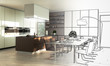 Lofted Kitchen (drawing) - 162987737