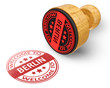 welcome to Berlin red grunge round stamp isolated