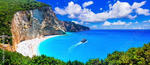 Fotobehang Freesurf Most beautiful beaches of Greece series - Porto Katsiki in Lefkada, Ionian islands
