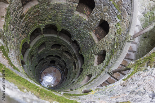 The Initiation well of Quinta da Regaleira in Sintra, Portugal