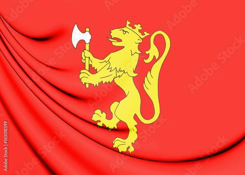 3D Royal Standard of Norway.