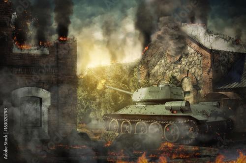 Obrona czołgów zniszczyła wieś