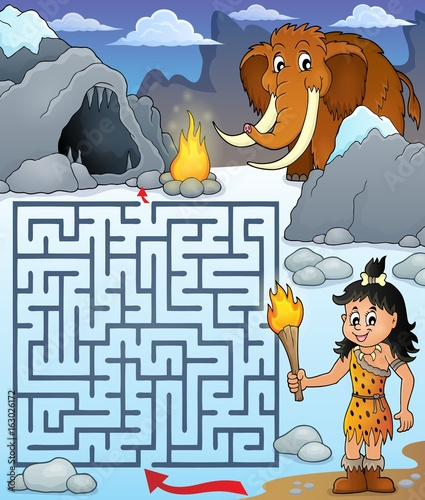 Maze 3 with prehistoric theme 1