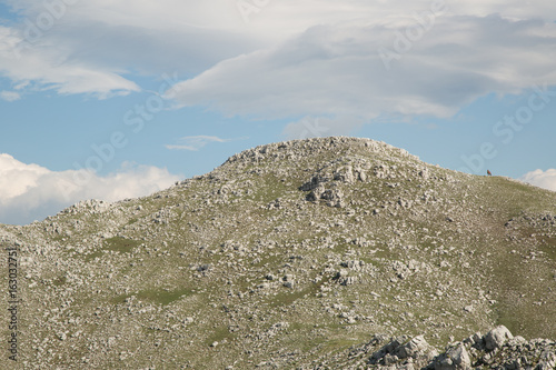 Lonely horse on the summit, Monte Cervati Poster