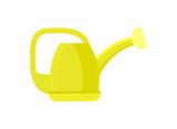 Garden watering can icon. Agricultural farming equipment vector illustration isolated on white background. - 163034792