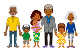 Multi-Generation family -African