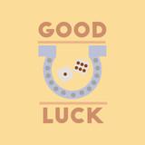 flat icon on stylish background poker good luck