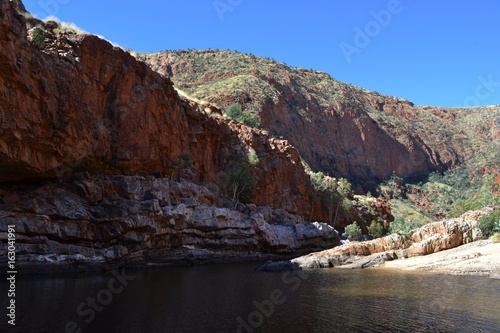 The scenery around Alice Springs, in the middle of Australia