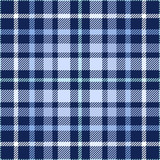 Seamless tartan plaid pattern. Checkered fabric texture print in shades of blue and white. - 163042392
