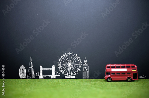 London skyline tourism background Poster