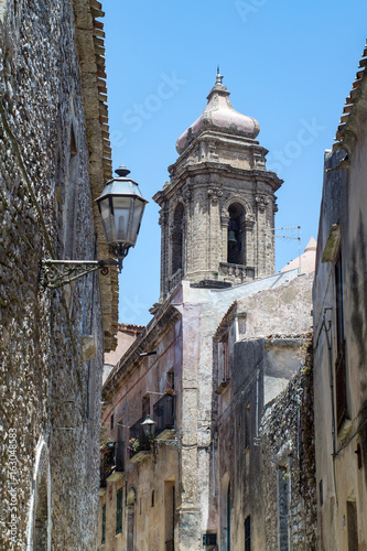 Church of San Giuliano in the town of Erice Poster