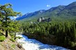 View over Bow Falls within the Canadian Rocky Mountains, Banff
