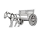 Donkey  A Cart Wall Sticker