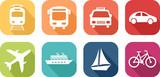 Fototapety Icône de véhicules de transport