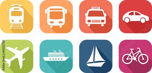 Tapeta Icône de véhicules de transport