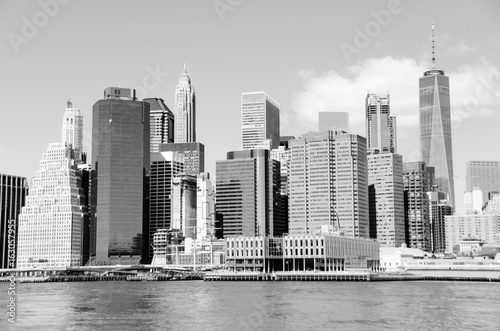 New York skylin in black and white