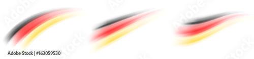 Deutschland Farben Schweif, dynamisch - Set