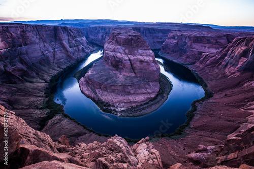 Horseshoe Bend in twilight, Arizona, American Southwest, USA