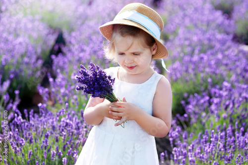 little girl at lavender field