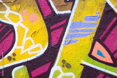 colorful graffiti wall closeup - graffiti background
