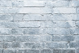 brick  wall  painted in silver, graffiti background - 163089923