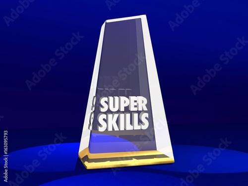 Super Skills Award Best Skilled Prize 3d Illustration