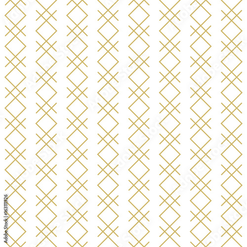 Stylish linear geometric seamless vector pattern. - 163111926