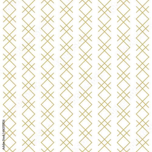 Stylish linear geometric seamless vector pattern. - 163111926