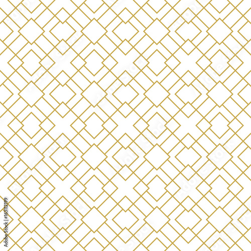 Modern stylish seamless geometric vector pattern with thin linear squares