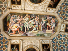"""Постер, картина, фотообои """" Palazzo Te in Mantua is a major tourist attraction. The palace was built in the mannerist architectural style for Federico II Gonzaga, Marquess of Mantua. Italy"""""""