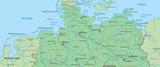Norddeutschland - Landkarte von Nord- und Ostsee - 163132379