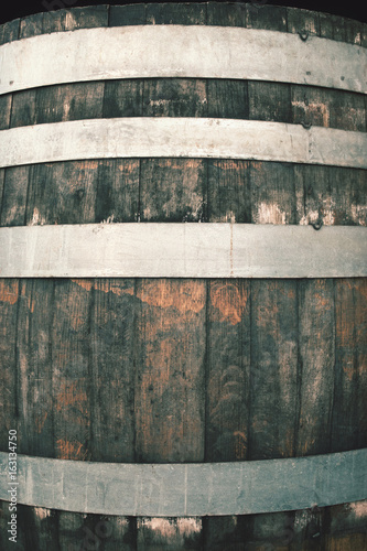 rustic wooden barrel, a vintage background for rough graphics