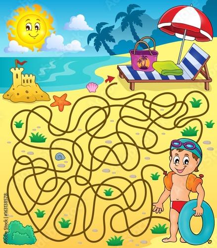 Maze 28 with beach theme 2