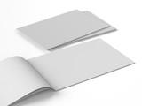 horizontal brochure book magazine template - 163139111