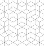 Fototapety Geometric abstract seamless pattern cube lines background texture