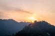 Beautiful Sunrise in mussoorie india