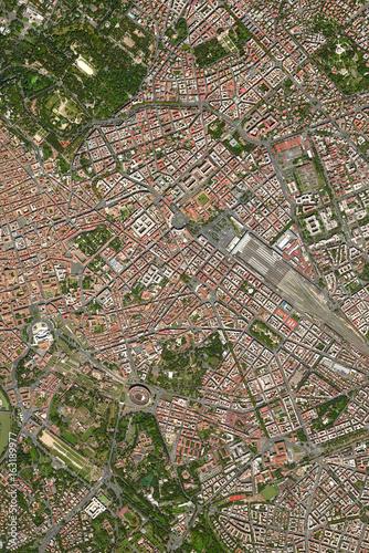 Luftaufnahme Zentrum Rom Poster