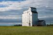 Early Morning Grain Elevator in Canadian Prairie