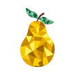 pear in low poly look - 163211752