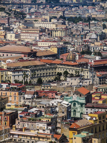 Details of Naples' historic center (old town) viewed from above