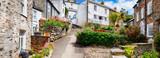 panorama of old village Port Isaac, Cornwall - 163225944