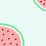 Abstract Watermelon Design - 163234968