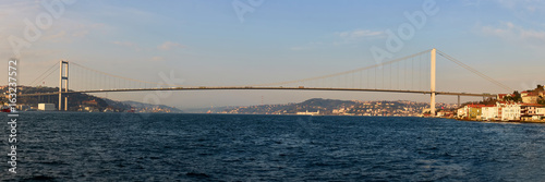 The Bosphorus Bridge connecting Europe and Asia. Poster