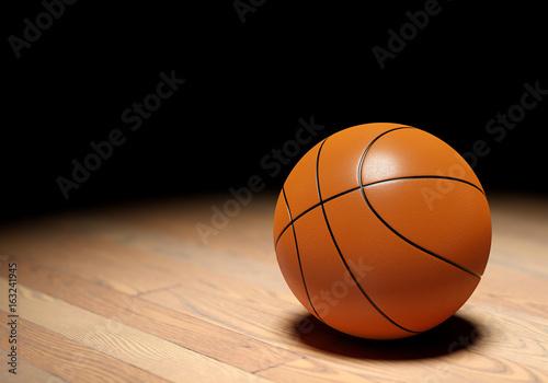 Fotobehang Basketbal Basketball on dark background