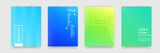 Fototapety Abstract gradient color pattern texture for book cover template vector set
