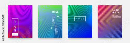 Abstrakcjonistyczna gradientowa koloru wzoru tekstura dla książkowej pokrywy szablonu wektoru setu