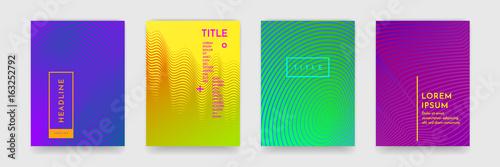 Kolor gradientu streszczenie tekstura wzór geometryczny na okładce książki szablon wektor zestaw