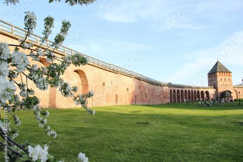 Kremlin wall in Velikiy Novgorod